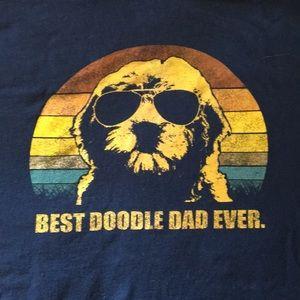 Best Doodle dad ever tee t-shirt xl